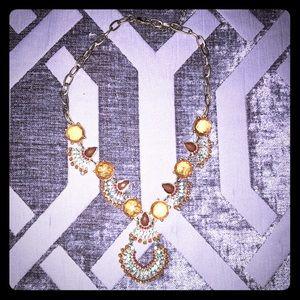 Orange and gold jewel necklace